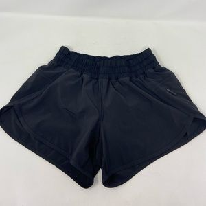 Lululemon Hotty Hot Black Running Shorts Wmns Sz 6